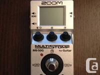 Selling my Zoom MS50G MultiStomp Guitar Pedal (view