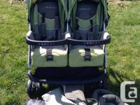 Zooper tango double stroller about 1 year old barley