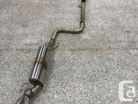 This comes as a complete exhaust system from the turbo
